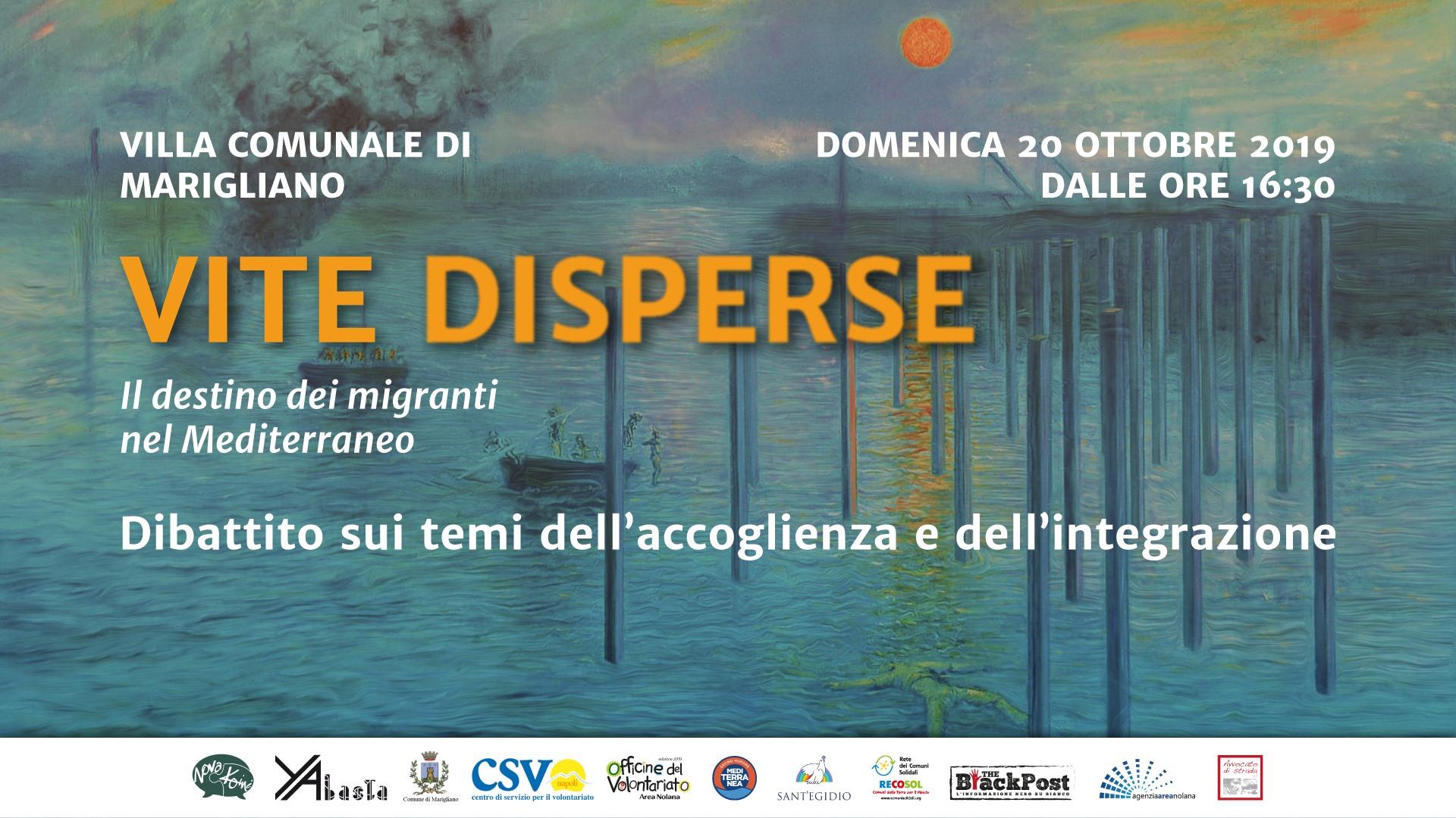 """Marigliano, il 20 ottobre """"Vite disperse: il destino dei migranti nel Mediterraneo"""": dibattito su accoglienza e immigrazione"""