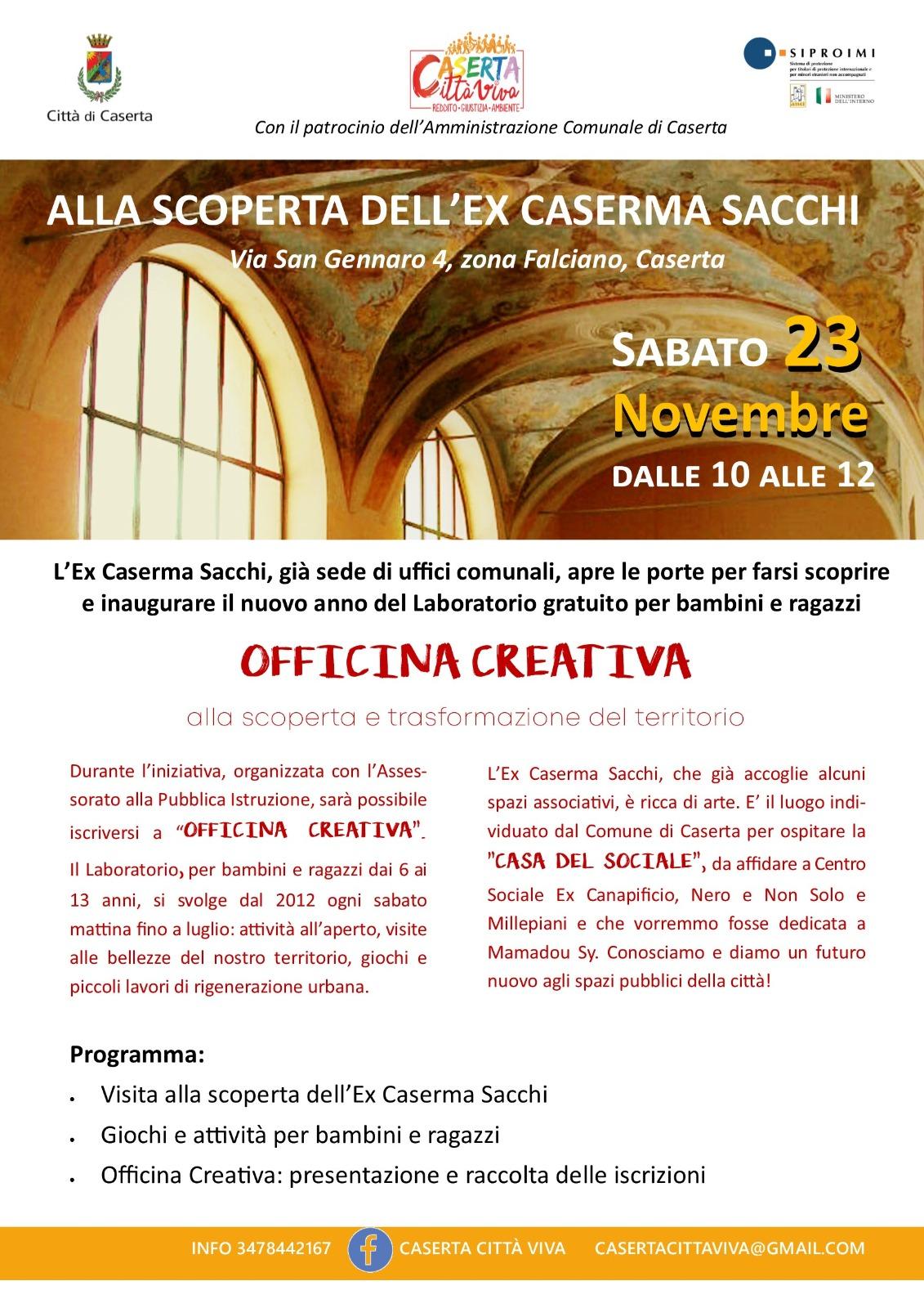 Casa del sociale di Caserta, sabato visita guidata