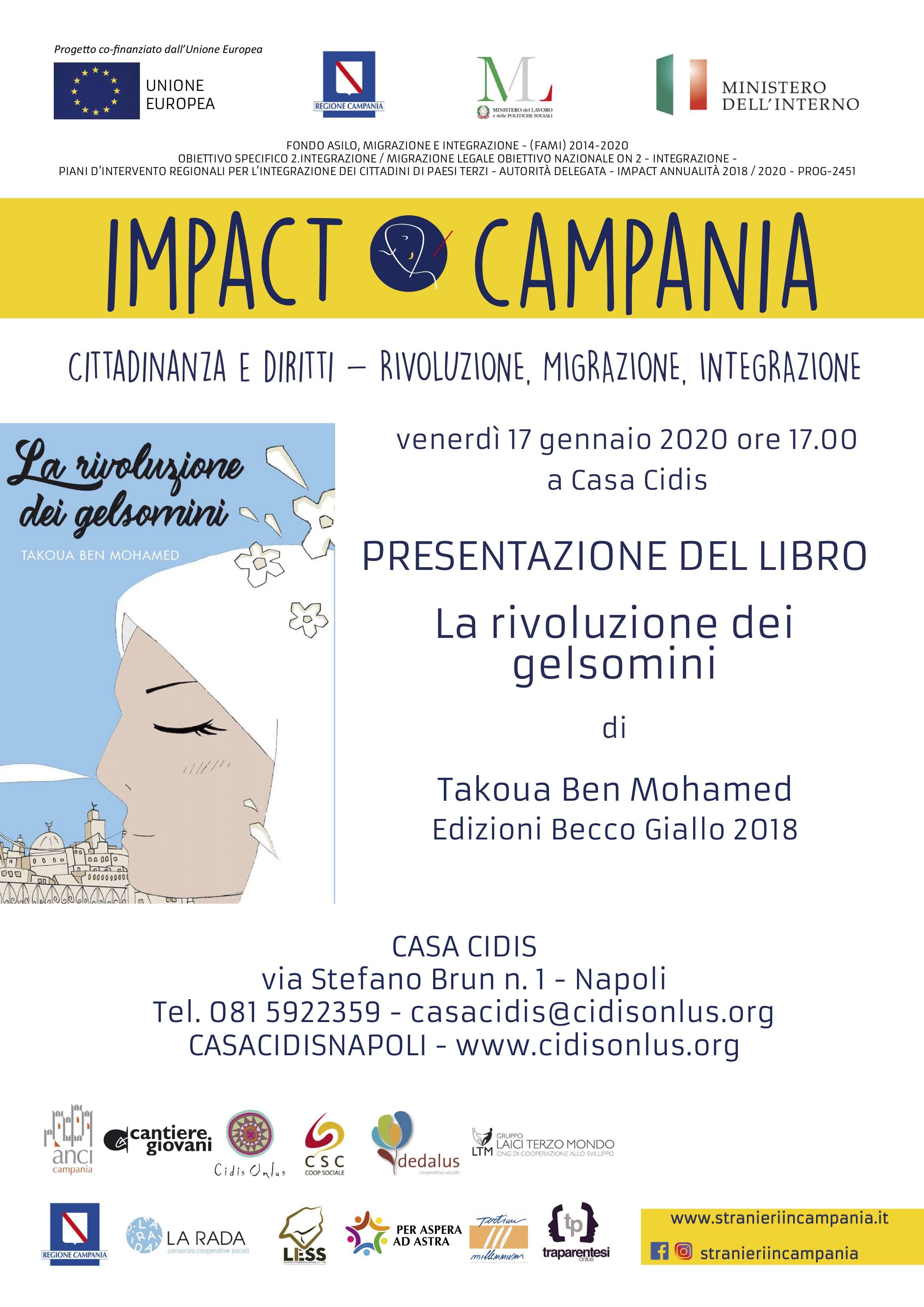 """""""La rivoluzione dei gelsomini"""", presentazione a Napoli il 17 gennaio con Takoua Ben Mohamed"""