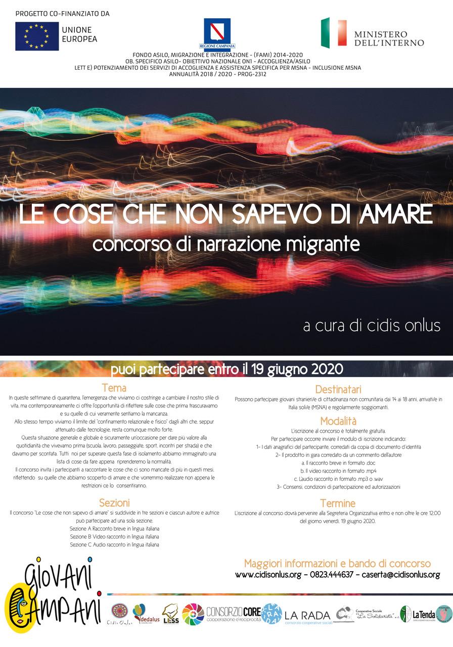 """""""Le cose che non sapevo di amare"""", il concorso di narrazione migrante per minori"""