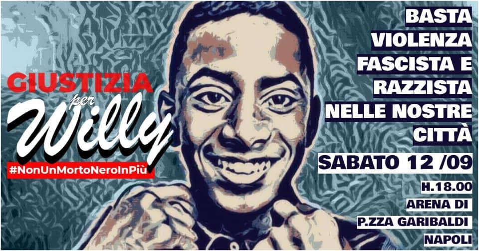 Omicidio Willy Monteiro: manifestazioni a Napoli e Caserta per chiedere giustizia