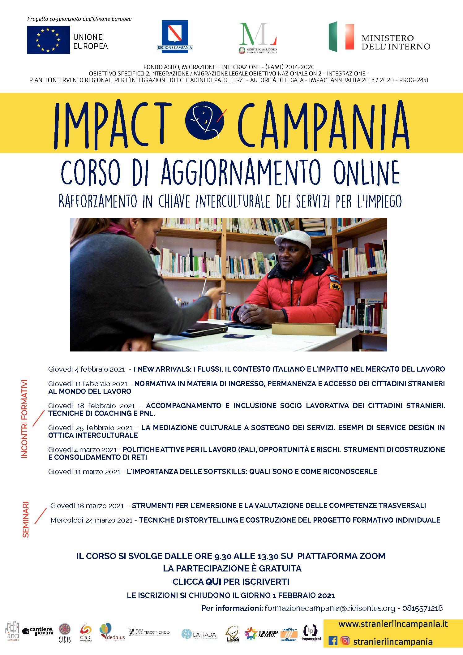 Rafforzamento dei servizi per l'impiego in chiave interculturale. Nuovo corso di IMPACT Campania