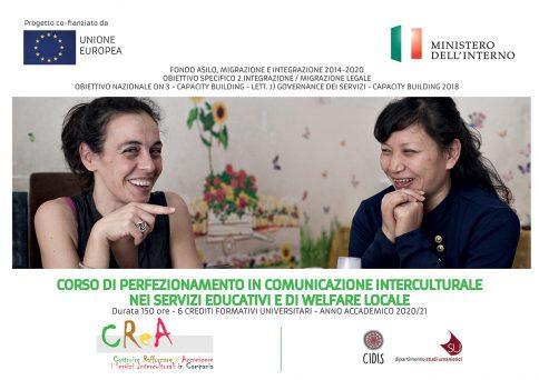 """Corso di perfezionamento in """"Comunicazione interculturale nei Servizi Educativi e di Welfare locale"""""""