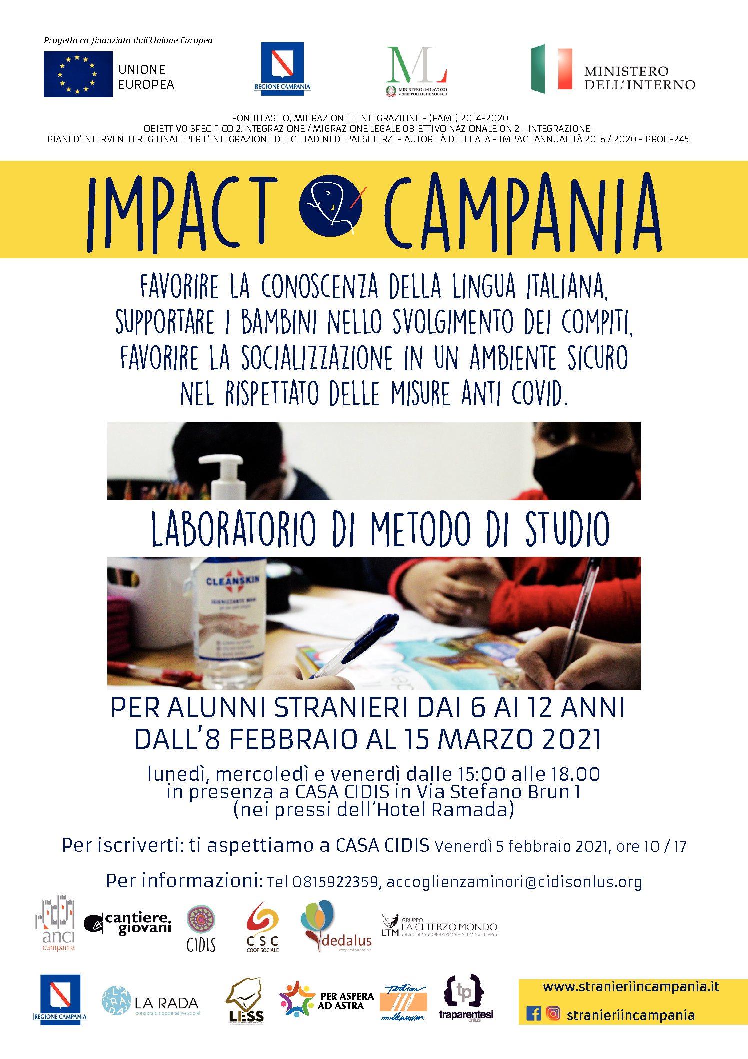 Da lunedì 8 febbraio: Corso di Metodo di Studio a Casa Cidis