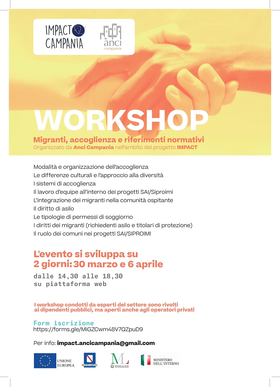 """""""Migranti, accoglienza e riferimenti normativi"""". Workshop on line"""