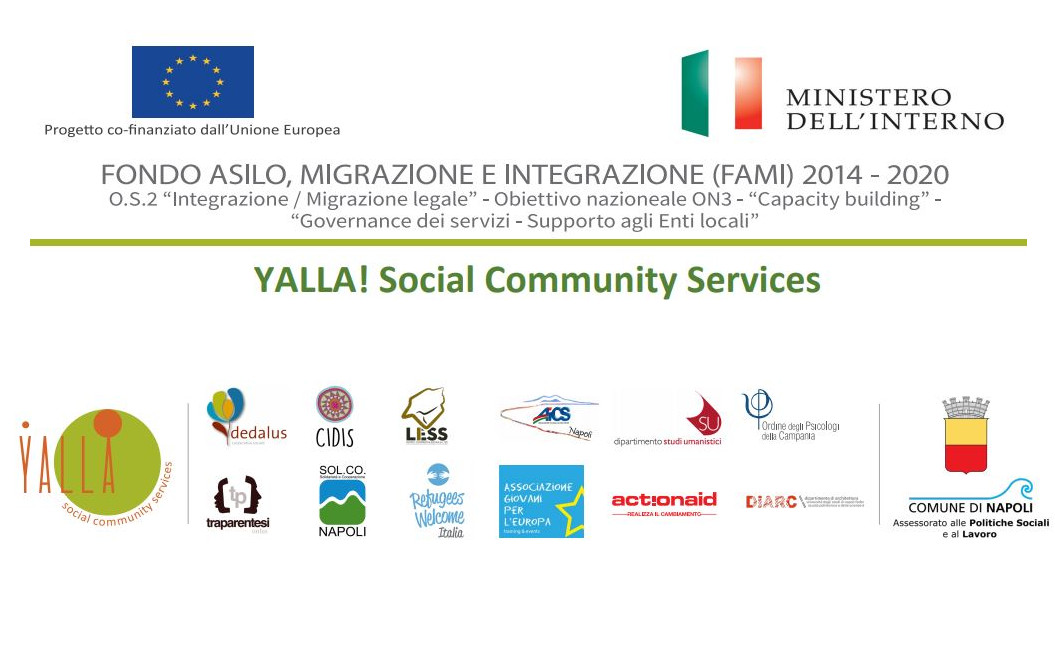 Corso di formazione per psicologi di Yalla! Social Community Services