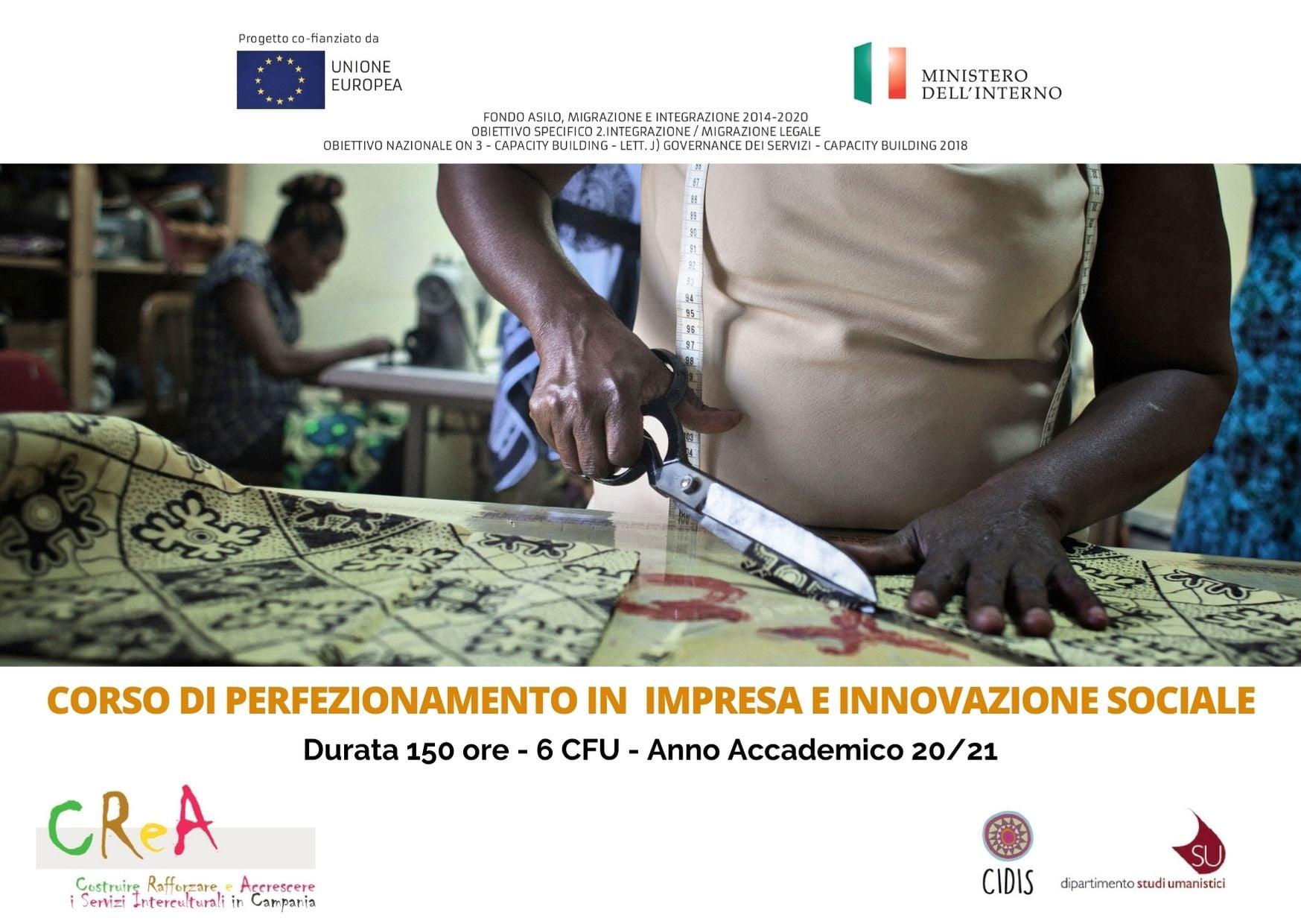 """Corso di formazione in """"Impresa e Innovazione Sociale"""" organizzato dall'Università Federico II e Cidis Onlus"""