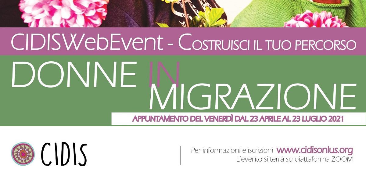 Donne in migrazione: il CIDIS WebEvent dal 23 aprile al 23 luglio