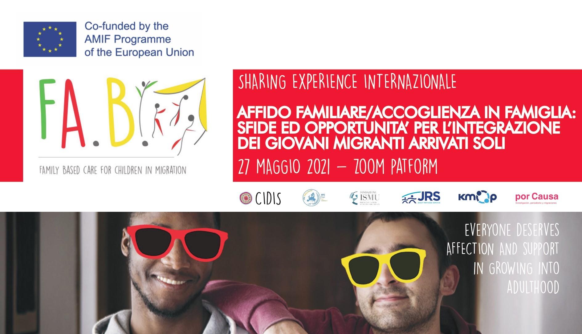 FA.B! Family Based Care in diretta giovedì 27 maggio: sfide e opportunità per l'integrazione dei minori stranieri non accompagnati