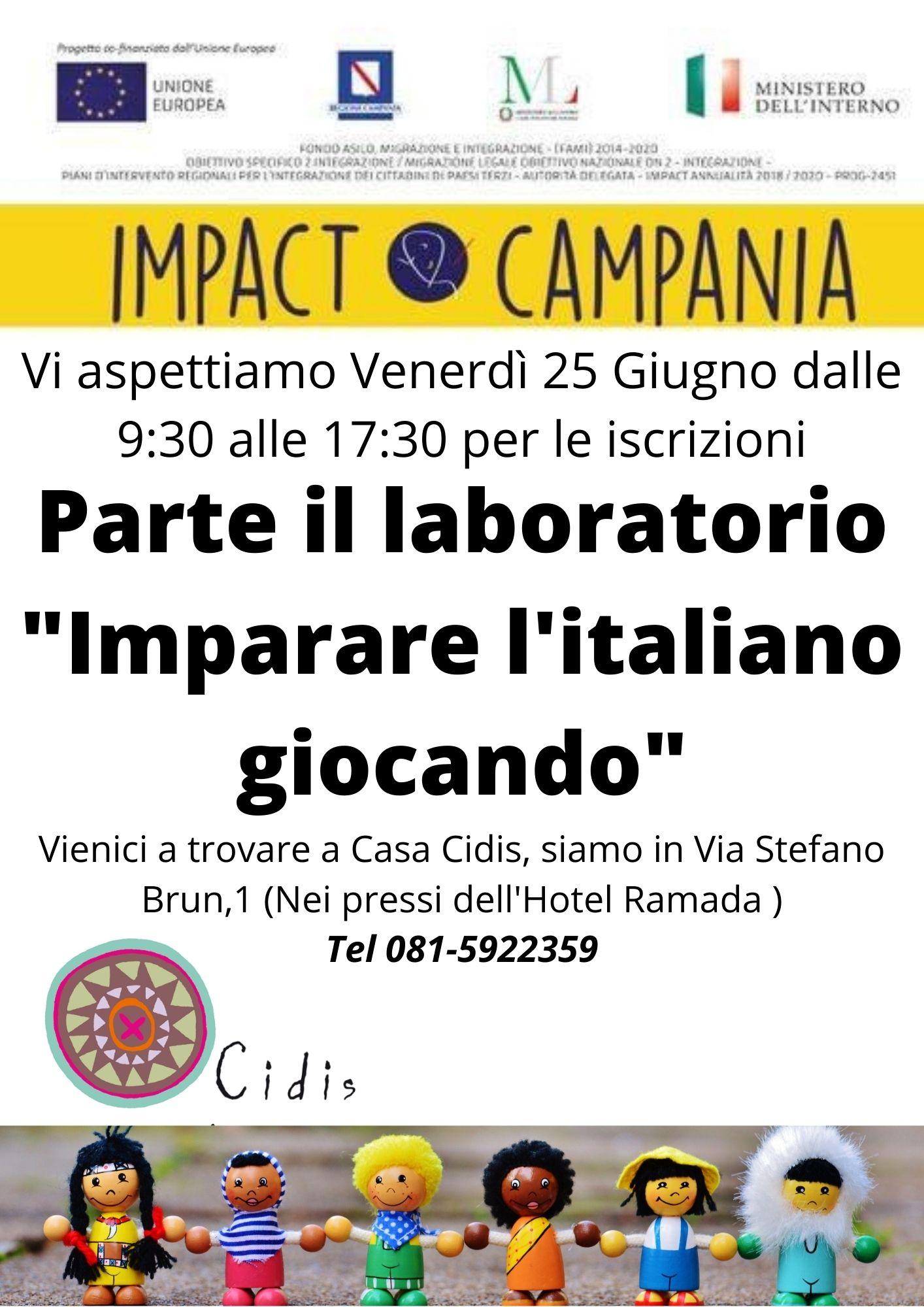 Impariamo l'italiano giocando: il 25 giugno open day a Casa Cidis per iscriversi