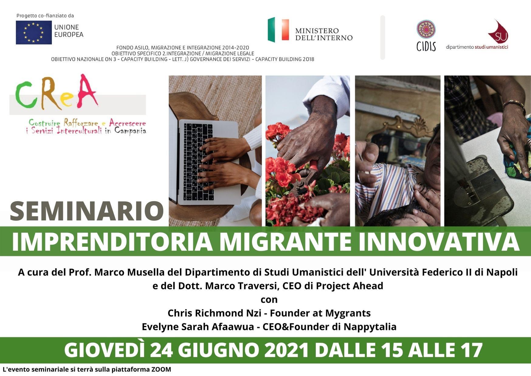 Imprenditoria migrante innovativa: seminario il 24 giugno
