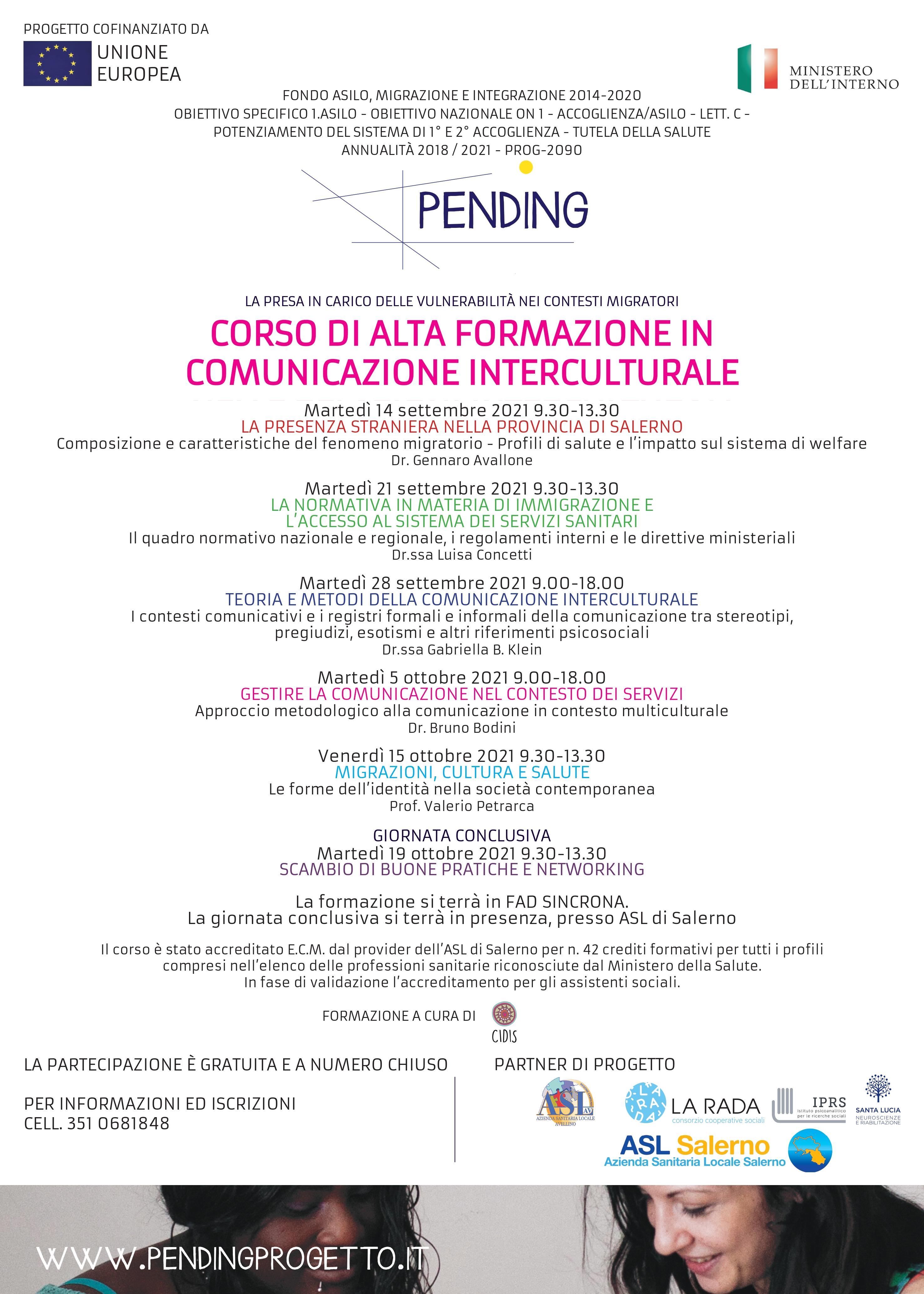 Un'interessante opportunità formativa dell'Asl Salerno: al via  corso di Alta Formazione in Comunicazione Interculturale