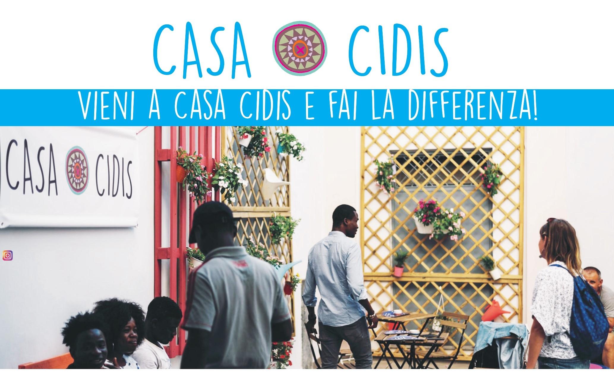 """""""Vieni a Casa Cidis e fai la differenza!"""": mercoledì 6 ottobre alle ore 17.00"""