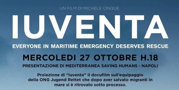 """Presentazione di Mediterranea Napoli e proiezione del docufilm """"Iuventa"""": il 27 ottobre all'Asilo Filangieri"""
