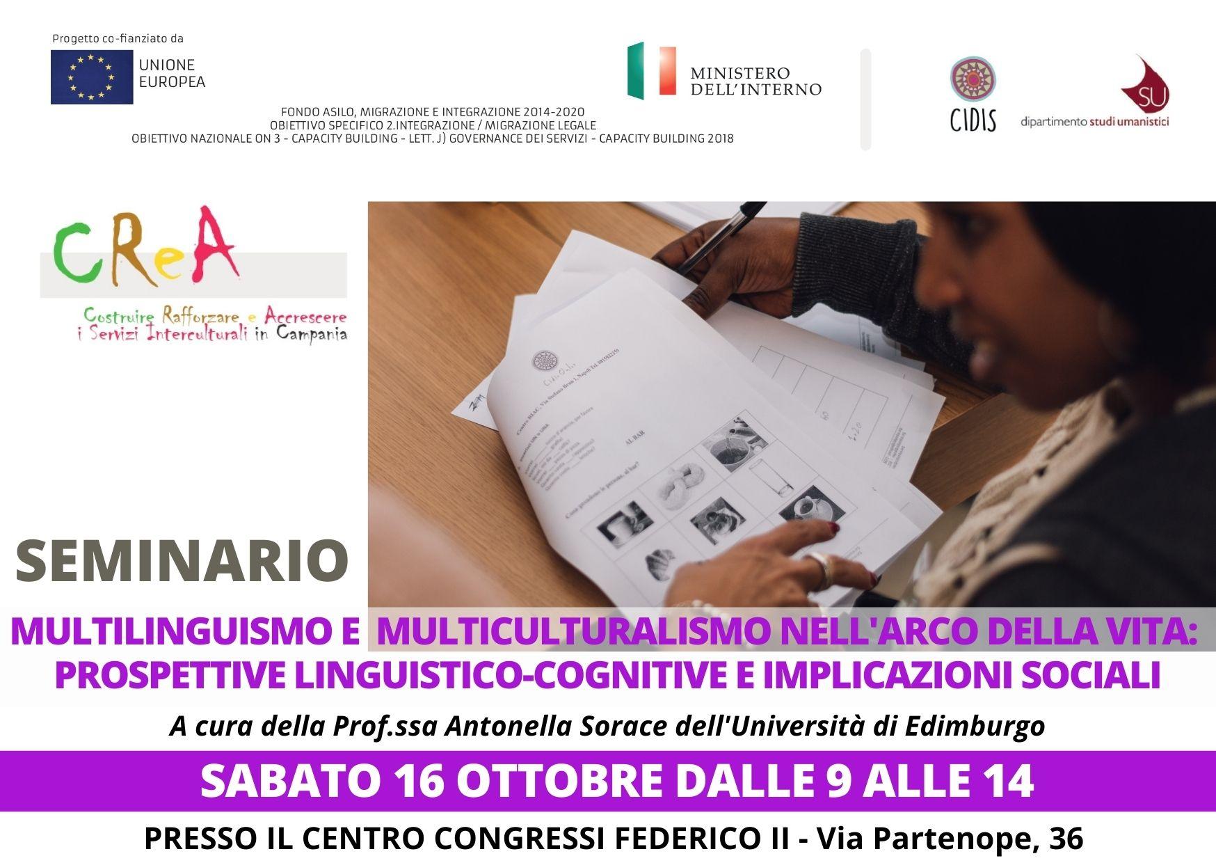 Multilinguismo e multiculturalismo: il 16 ottobre seminario al Centro Congressi Federico II