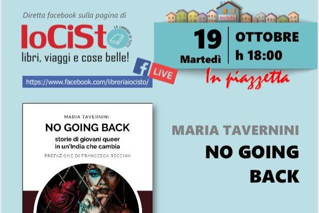 """""""No going back. Storie di giovani queer in un'India che cambia"""": presentazione del libro martedì 19 ottobre"""